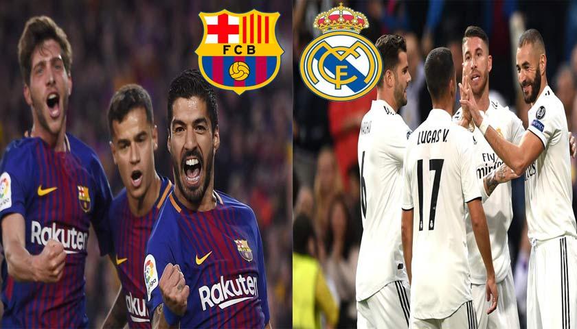 Prediksi Liga Spanyol Barcelona vs Real Madrid 28 Oktober 2018
