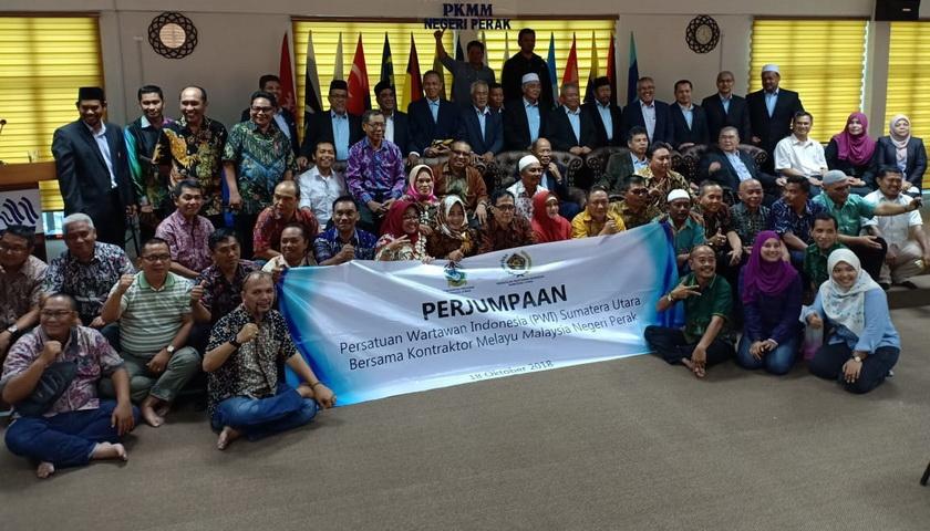 PWI Sumut dan Wartawan Perak Bertukar Informasi