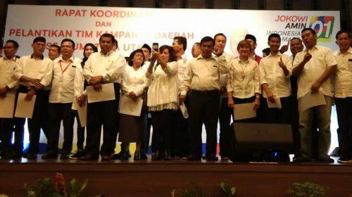 Tim Kampanye Daerah Jokowi-Maruf Amin Dilantik di Sumut