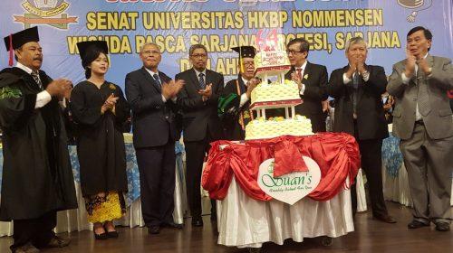 Menkumham RI Orasi Ilmiah di Acara Wisuda UHN Medan