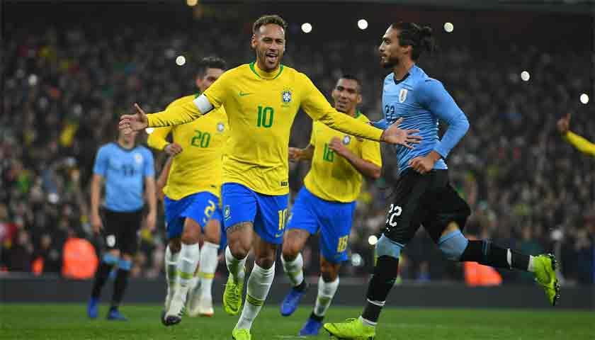 Gol Penalti Kontroversial Neymar Bawa Brasil Libas Uruguay 1-0