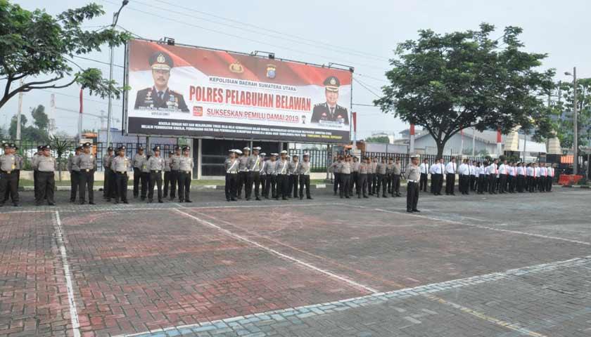 Peringati Hari Pahlawan, Polres Pelabuhan Belawan Gelar Upacara