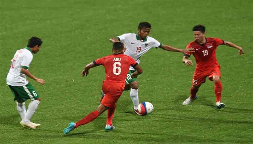 Piala AFF 2018, Timnas Singapura Paksa Timnas Indonesia Menyerah 1-0