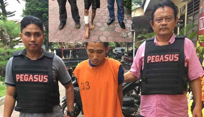Begal Berkelewang Ditembak Polisi, Haris Lubis Pincang