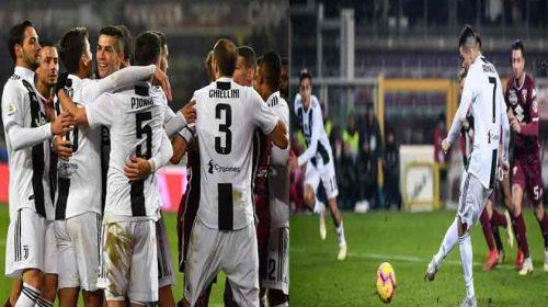 Gol Penalti Cristiano Ronaldo Menangkan Juventus di Derby Della Mole