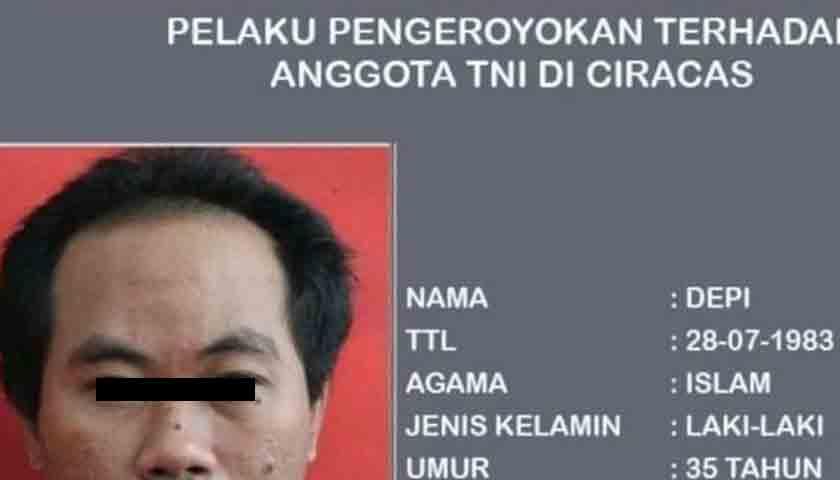 Keroyok Anggota TNI, Lima Pelaku Diciduk Polisi