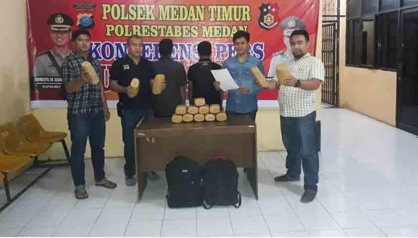 Nekat Bawa Ganja 15 Kg, Dua Warga Aceh Ditangkap di Medan