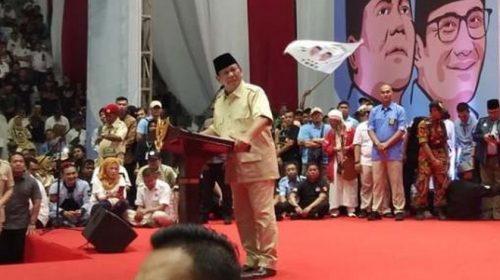 Prabowo Subianto: Mata Wartawan Ada di Dengkul