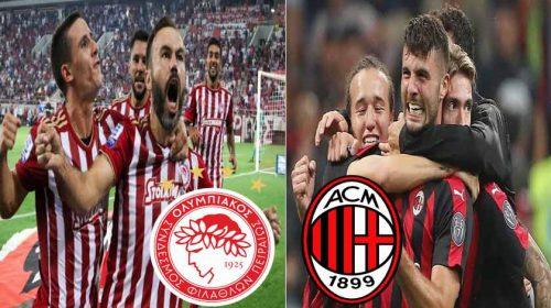 Prediksi Liga Eropa Olympiakos vs AC Milan 14 Desember 2018