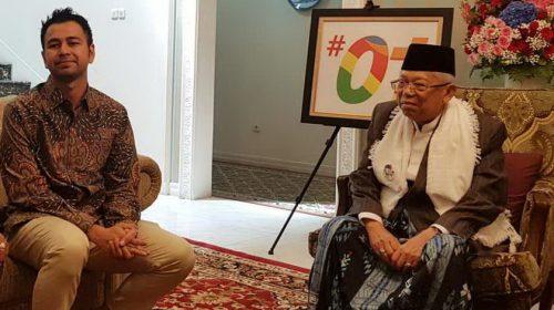 Raffi Ahmad Sebut Kiai Ma'ruf Sosok yang Berjiwa Muda