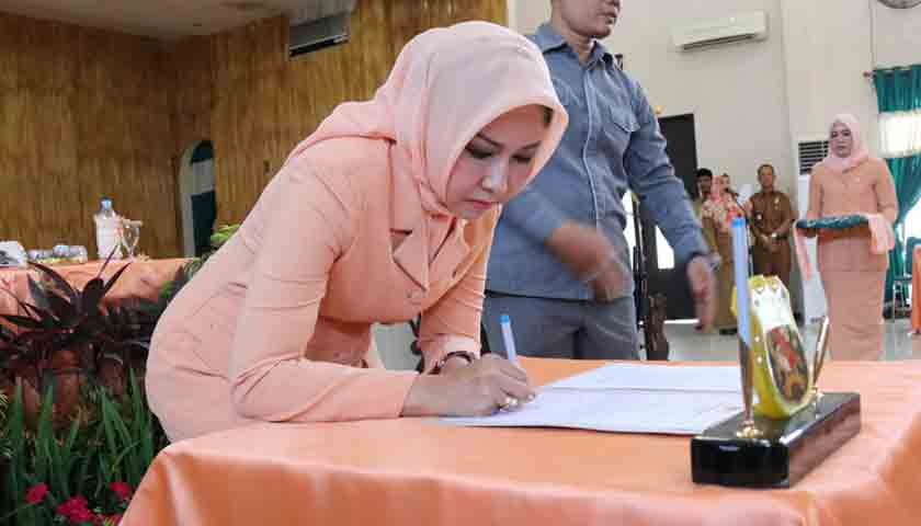 Istri Sekda Jabat Ketua DWP Kota Medan