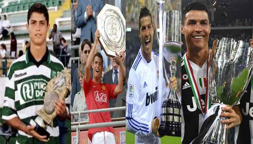 Cristiano Ronaldo Raih Empat Piala Supercoppa dari Negara Berbeda
