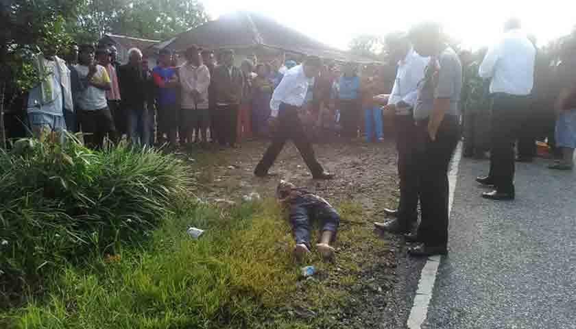 Tewas Diduga Dibacok, Situmorang Terkapar di Pinggir Jalan