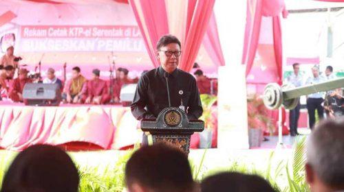Sukseskan Pemilu 2019, Kemendagri Rekam KTP Serentak di Lapas seluruh Indonesia