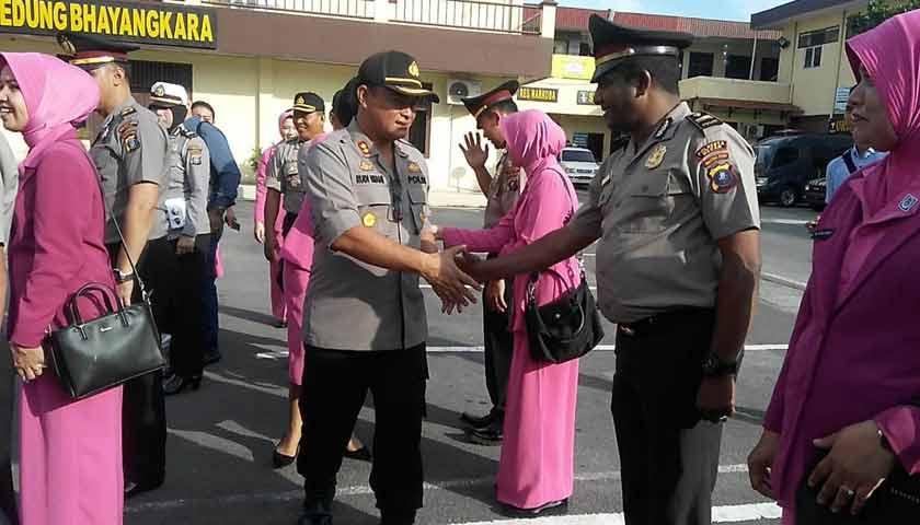 Wakapolrestabes Medan Irup Kenaikan Pangkat 154 Personel