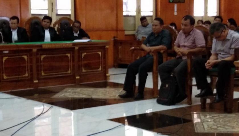 Kadis PUPR Tapteng Nonaktif dan PPK Divonis 1 Tahun 4 Bulan Penjara