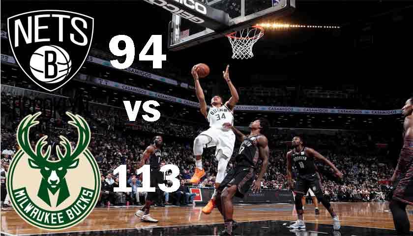 NBA 2018/19, Milwaukee Bucks Taklukkan Tuan Rumah Brooklyn Nets
