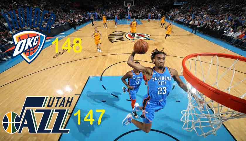 NBA 2018/19: Oklahoma City Thunder Tundukkan Utah Jazz