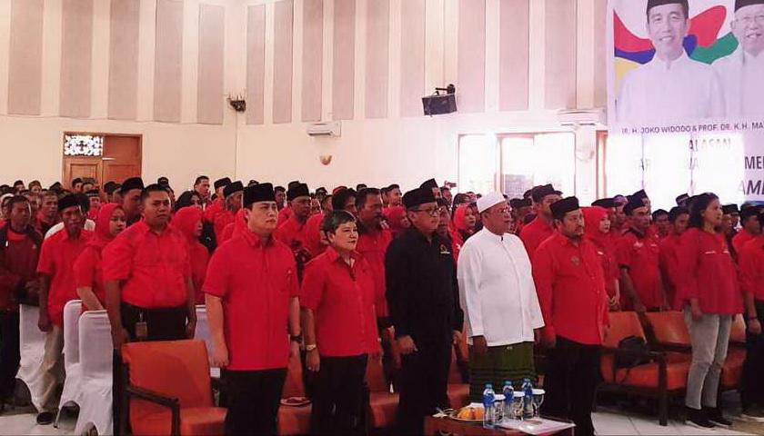 PDIP Sukabumi Targetkan 62% Kemenangan Jokowi-Ma'ruf