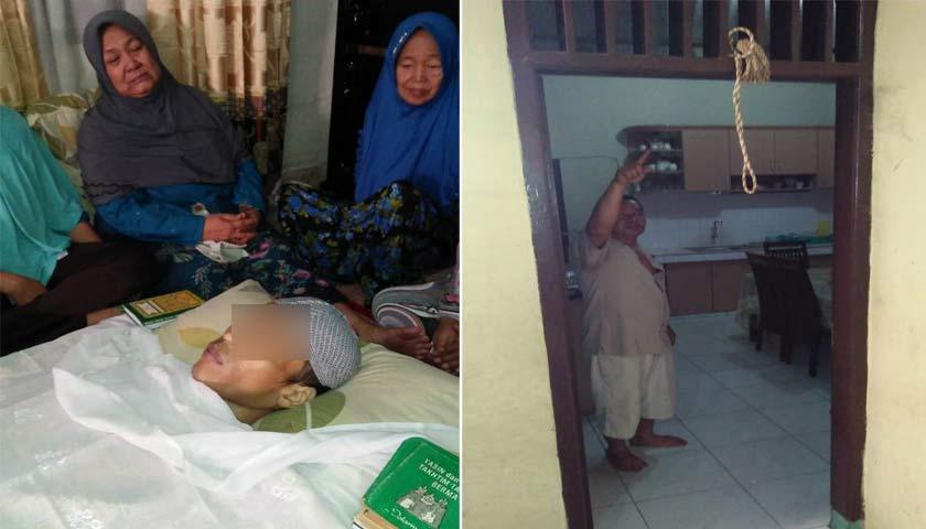 Penyakit Tak Kunjung Sembuh, Ichsan Gantung Diri Pakai Tali Gorden