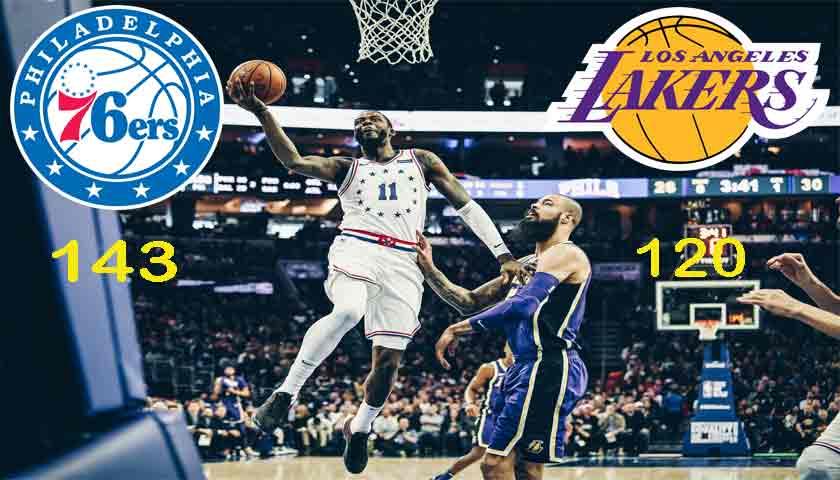 NBA 2018-2019, Philadelphia Sixers Libas LA Lakers