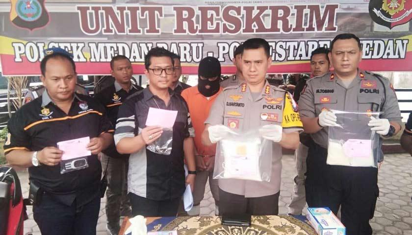 Polsek Medan Baru Tembak Kurir Sabu, Pelaku Mengaku Mendapat Upah Antar Rp7 Juta