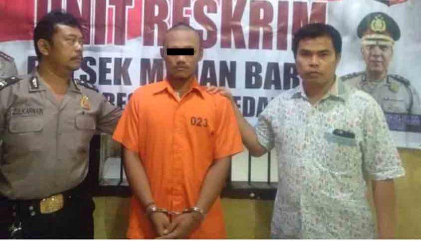Maling..!!! Aksi Pelaku Curanmor di Mesjid Kepergok, Ditangkap Warga