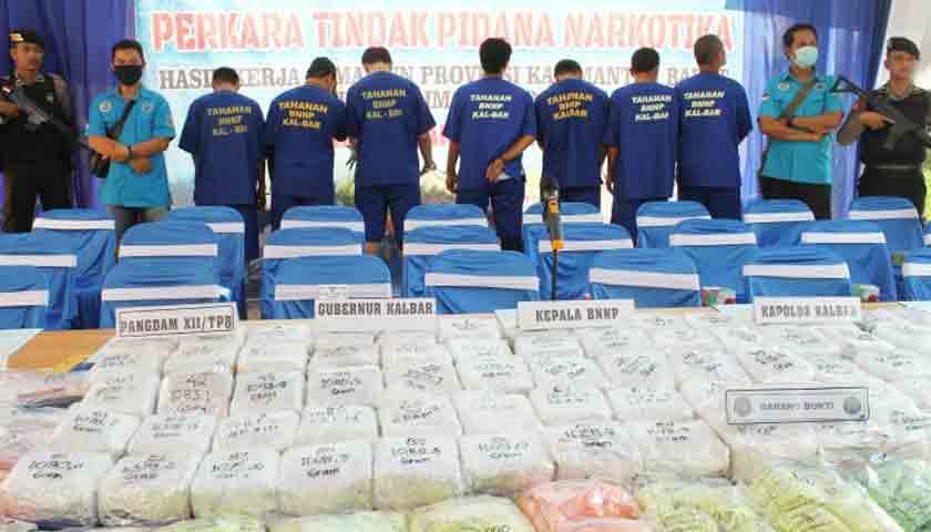 BNN Bongkar Penyelundupan Sabu Jaringan Malaysia dan Medan, Barbut 20 Kg