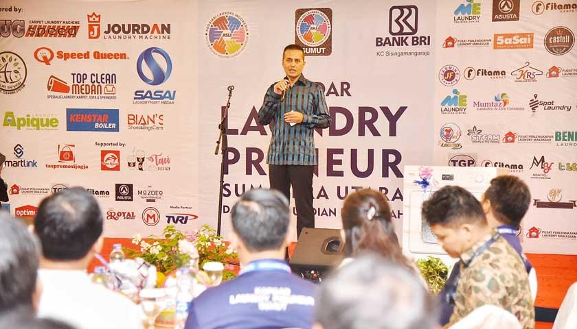 Buka Kopdar Pengusaha Laundry, Wagub Sumut Harapkan Usaha Laundry Ramah Lingkungan
