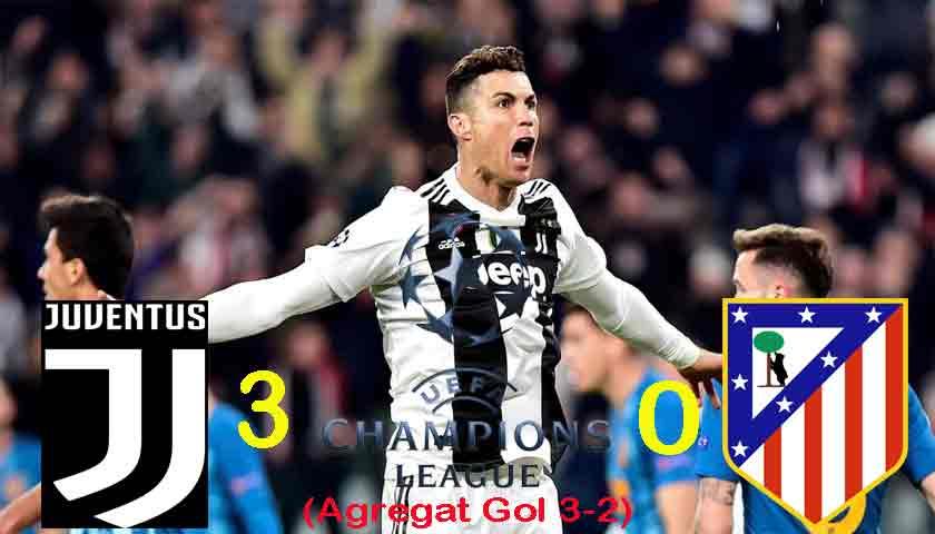 Cristiano Ronaldo Ngamuk Tiga Golnya Singkirkan Atletico di Liga Champions