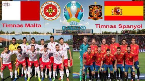 Prediksi Kualifikasi Piala Eropa 2020 Malta vs Spanyol 27 Maret 2019