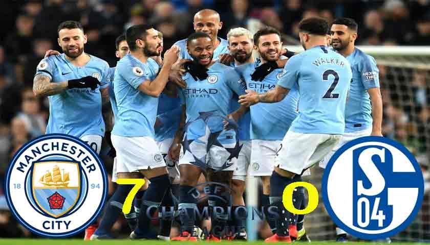 Manchester City Tampil Beringas Cukur Schalke 04 7-0