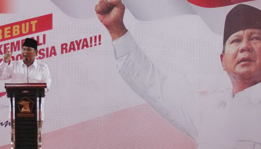 Prabowo: Rakyat Sudah Lelah dengan Pencitraan