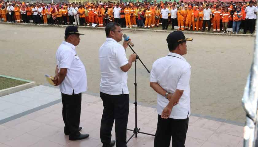 Sekda Kota Medan Pimpin Apel Bersama Dengan Seluruh ASN & PHL DKP