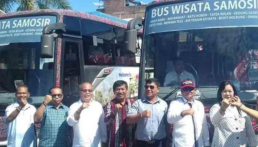 Bus Wisata Samosir Manjakan Turis, Jelajahi 12 Obyek Wisata, Nih Daftarnya!