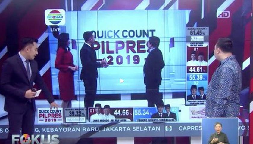 Data Quick Count Sempat Terbalik di Indosiar, ini Penjelasannya