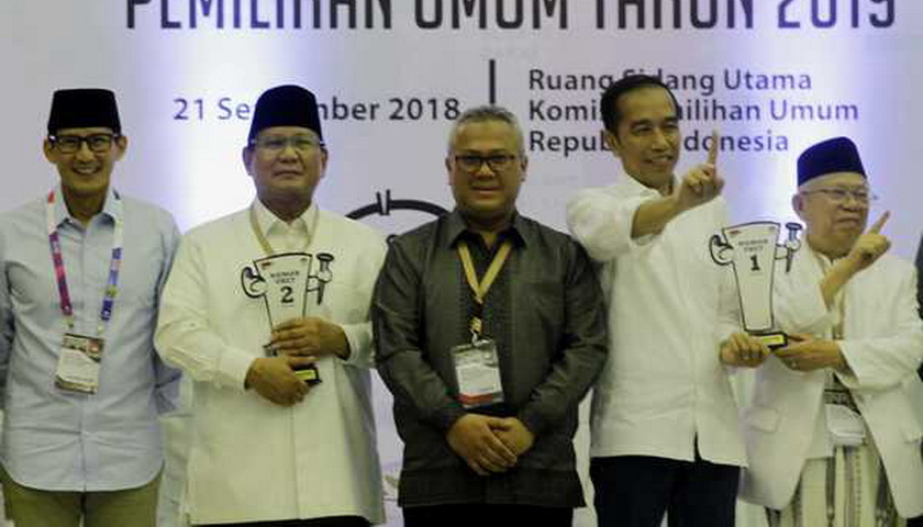Tinggal 17 Hari, Elektabilitas Jokowi-Ma'ruf tak Terkejar