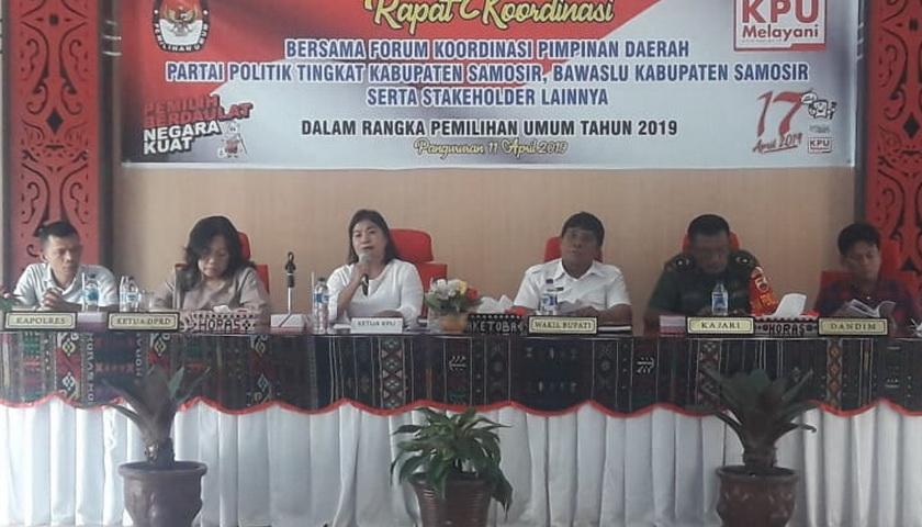 KPU Samosir Gelar Rapat Koordinasi
