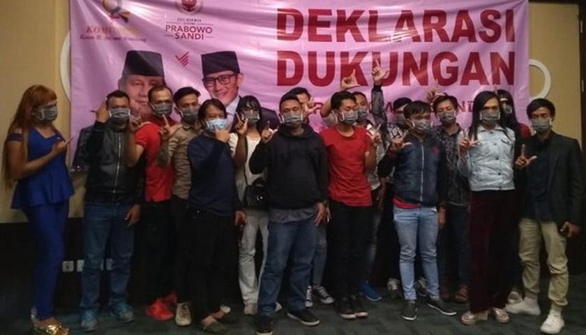 Komunitas Rainbow di Bandung Dukung Prabowo-Sandi