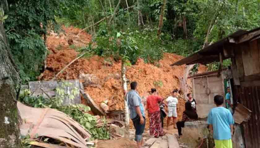 Longsor di Sibolga, 1 Unit Rumah Rusak, Intensitas Curah Hujan Tinggi