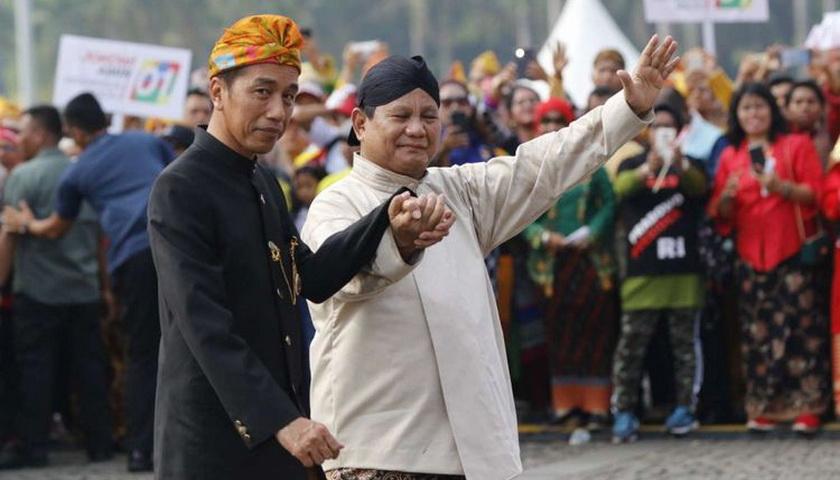 Survei Roy Morgan: Elektabilitas Jokowi 56,5 Persen, Prabowo 43,5 Persen