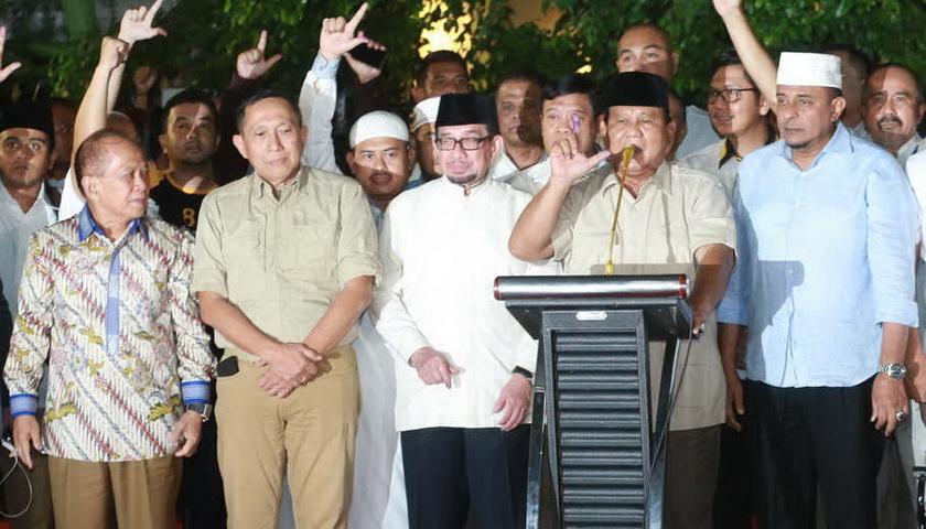 Prabowo Minta Pendukungnya Tunggu Real Count KPU