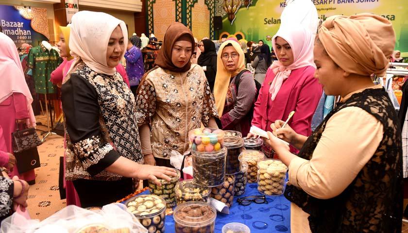 Buka Bazar Ramadan Bank Sumut, Ketua TP PKK Sumut Harap Jadi Agenda Tahunan