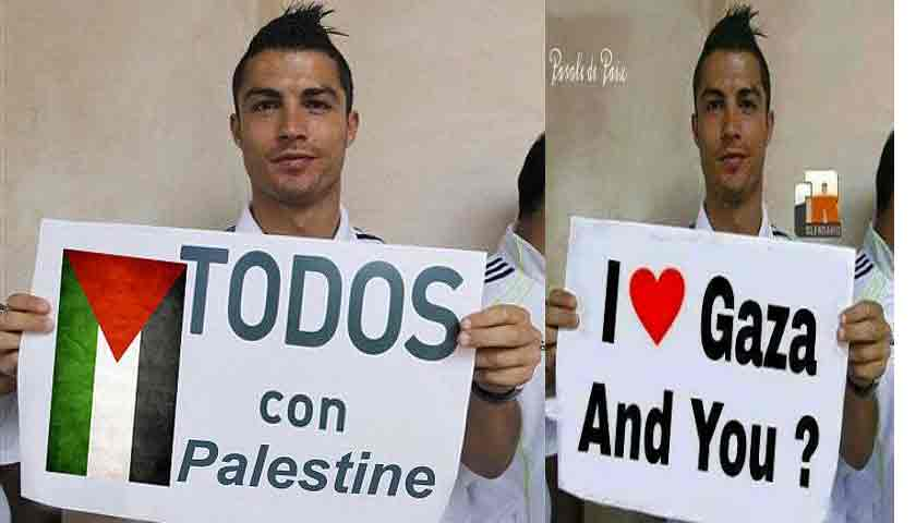 Cristiano Ronaldo Sumbang Rp 21,7 Miliar Untuk Rakyat Palestina