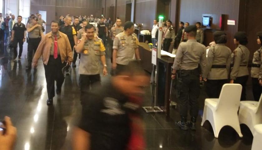 Kapoldasu 'Pantau' Rapat Pleno Terbuka Rekapitulasi Pilpres 2019 Tingkat Sumut