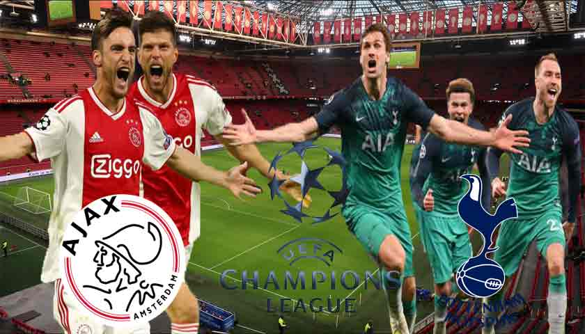 Prediksi Ajax Amsterdam vs Tottenham Hotspur Kamis 09 Mei 2019