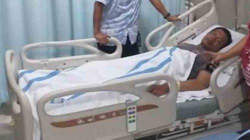 Ditabrak Pengemudi Mobil, Brigadir Jepri Hutasoit Terkapar