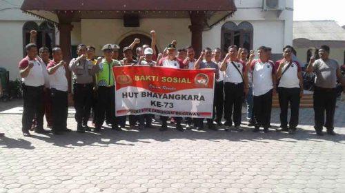 Sambut Hut Bhayangkara Ke-73, Polsek Medan Labuhan Gelar Baksos