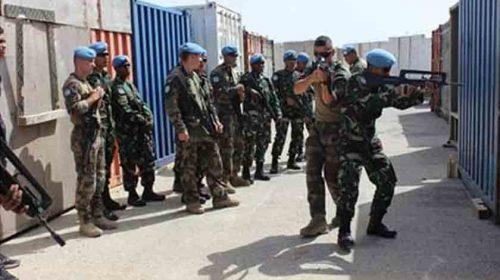 Pasukan Garuda dan FCR Prancis Latihan Bersama di Lebanon