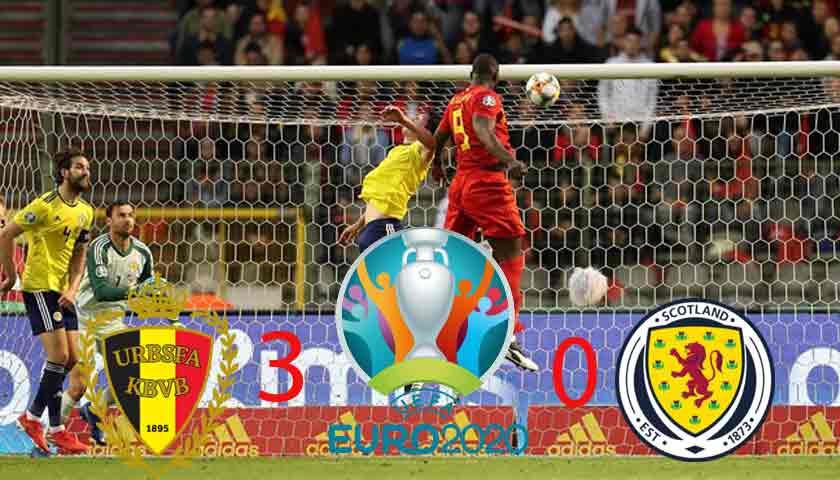 Hasil Kualifikasi Piala Eropa 2020: Belgia Tekuk Skotlandia 3-0